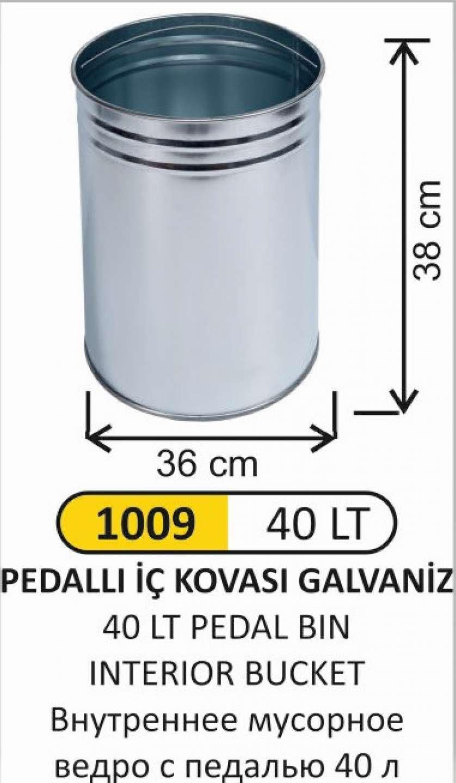 1009 40 LT Pedallı İÇ KOVASI
